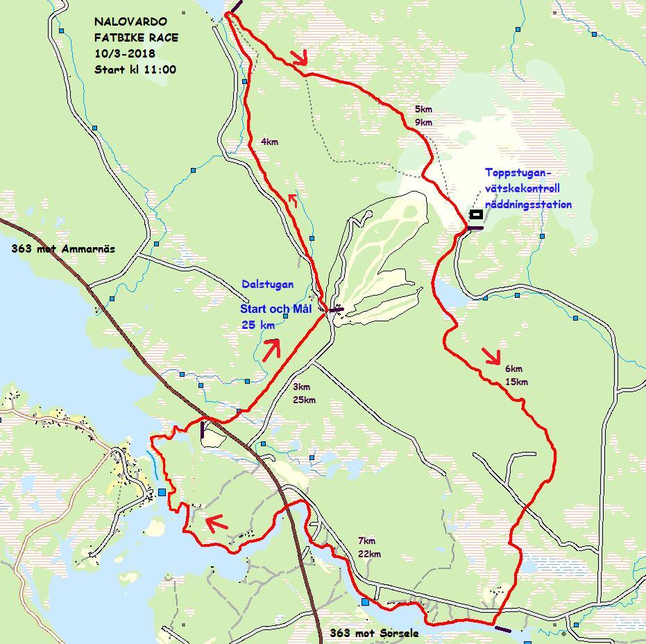 Bansträckning karta
