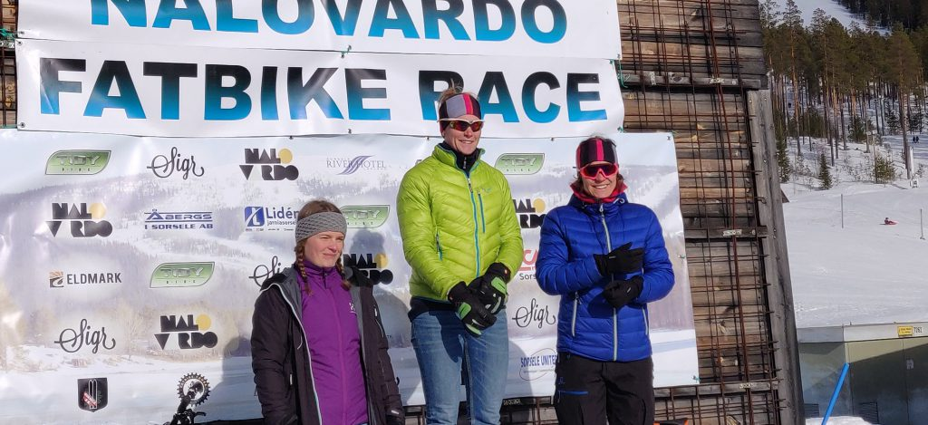 Vinnarpallen damer Nalovardo fatbike race